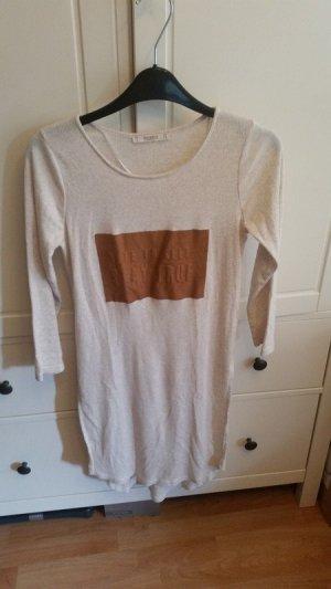 Pull & Bear Camisa larga beige-beige claro Algodón