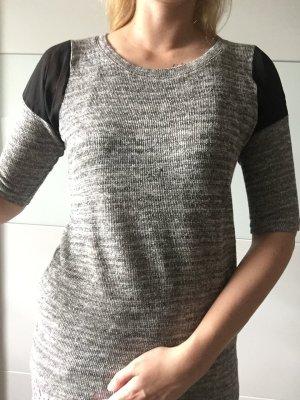 Longshirt/Pullover in grau Glitzer