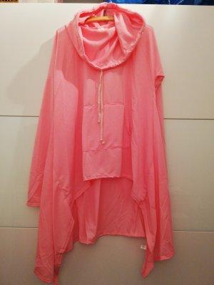 Camisa holgada rosa-rosa neón
