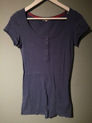 Review Camisa larga azul acero