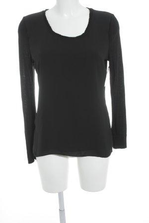 Lang shirt zwart casual uitstraling