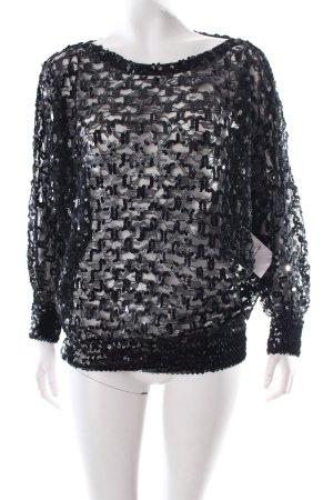 Longshirt schwarz Eleganz-Look