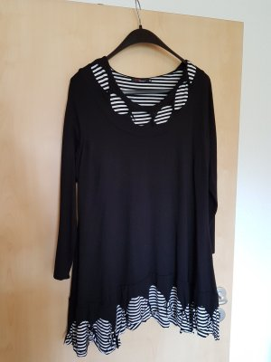 Camisa larga blanco-negro Poliéster