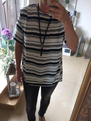 Longshirt schwarz weiß gesteift Größe 40 von H&M
