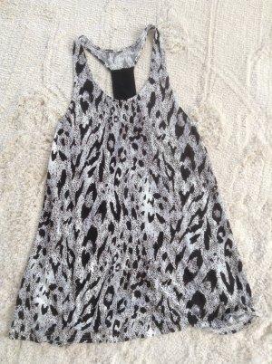 Longshirt / schwarz-weiß / Gr. S/M