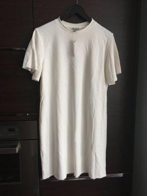 Longshirt Shirtkleid Wollweiß Kleid Minikleid Asos