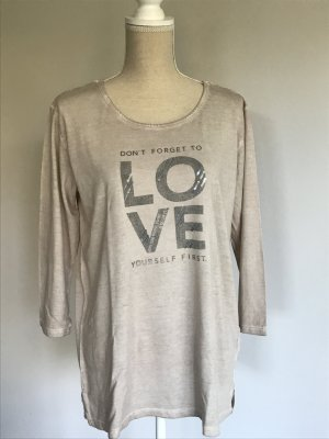 Street One Long Shirt beige-grey brown cotton