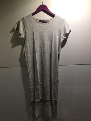 Longshirt/T-Shirt grau seitliche Schlitze Gr.36/S