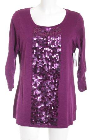 Longshirt violett Casual-Look