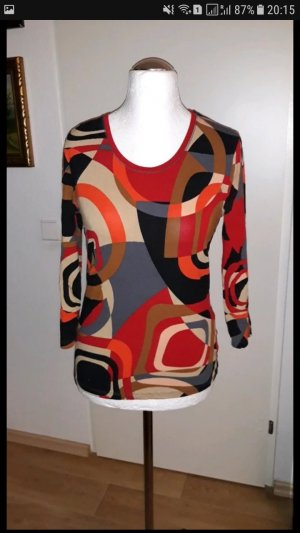Betty Barclay Manga larga negro-rojo