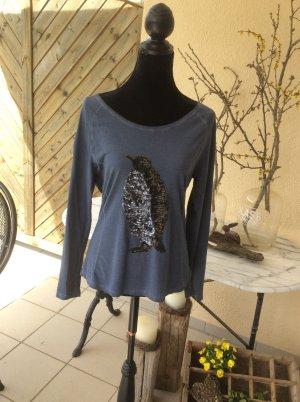 Comma Long Shirt dark blue