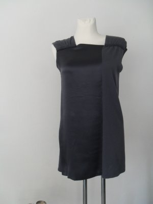 Laurèl Long Top dark grey silk