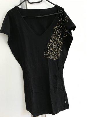 Vsct Camicia lunga nero-sabbia Cotone