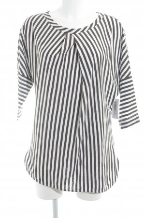 Long Shirt white-green grey striped pattern casual look