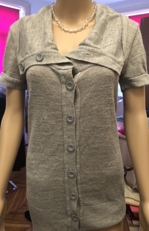 Tally Weijl Short Sleeve Knitted Jacket light grey