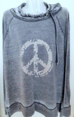 Camicia fantasia grigio ardesia-blu pallido Cotone