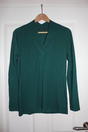 Esprit V-Neck Shirt dark green polyester