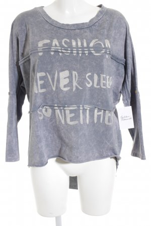 Longsleeve grau-altrosa Street-Fashion-Look