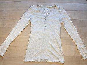 Longsleeve in hell-beige meliert mit hübschen Details