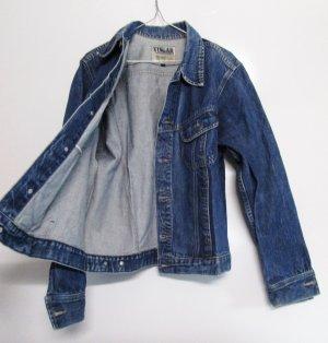 Longsleeve Jeans Jacke Vingar Größe L 42 Blau Denim Blue Blouson Oversize Boyfriend Jeansjacke