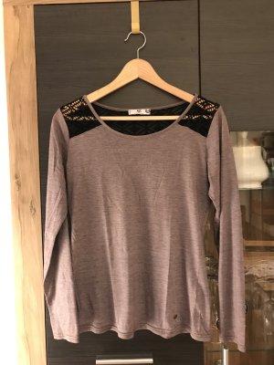 AJC Longsleeve grey lilac-black polyester