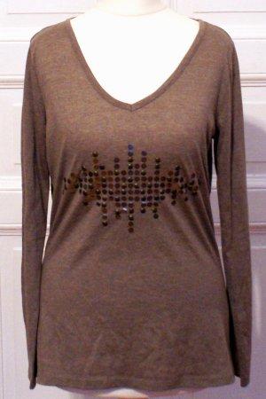 Longsleeve mit Metall Pailletten, Casual Look, Shirt