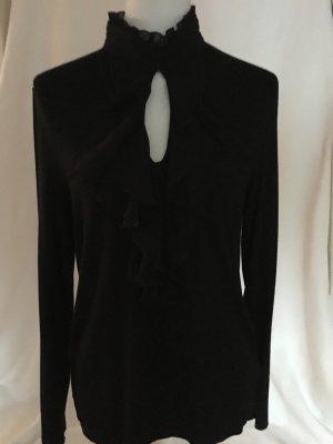 Lauren by Ralph Lauren Jersey con cuello de pico negro