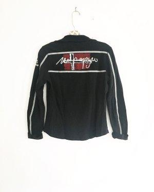 longsleeve napapijri shirt / schwarz / polo / casual