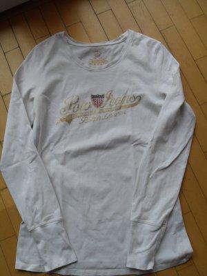 Lauren by Ralph Lauren Top à manches longues crème-beige clair coton