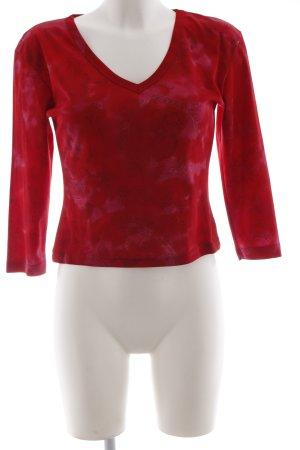 Longsleeve rot-rosa Farbverlauf Casual-Look