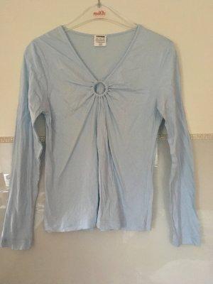 Longsleeve Schlafshirt von Basic Line in hellblau Größe 32/34