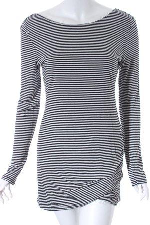 Longsleeve schwarz-weiß Ringelmuster Casual-Look