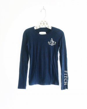 longsleeve shirt / abercrombie & fitch / dunkelblau / blue / A&F
