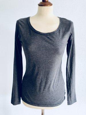 Longsleeve Shirt Rich And Royal Blau Grau S /36