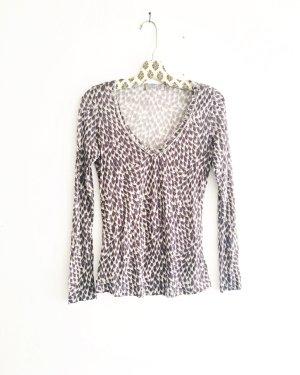 longsleeve shirt / top / vintage / grau / creme / boho / hippie / edgy