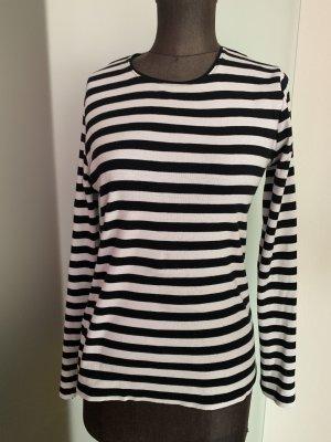 Lange cardigan zwart-wit