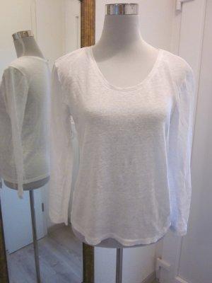 Longsleeve Shirt Weiss Leinen Feinstrick  Gr XS/S  Esprit