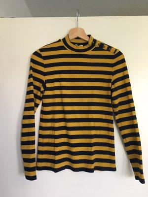 Esprit Lang shirt donkerblauw-oker