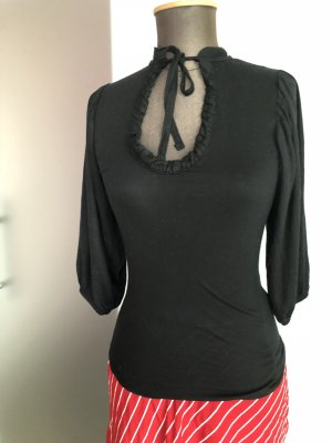 Longsleeve Tunika Shirt Bluse Gr 34 36 S von Zara Rüschen