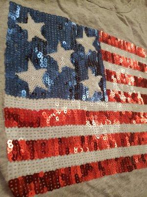 Longsleeve USA Flagge aus Pailletten