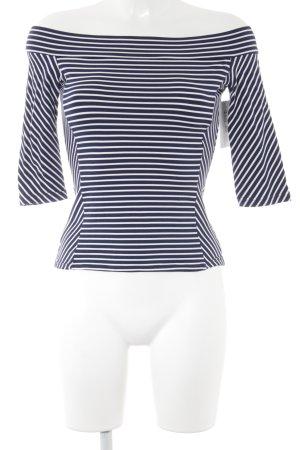 Longsleeve weiß-blau Streifenmuster Casual-Look