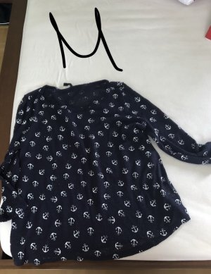 Sweater met korte mouwen donkerblauw