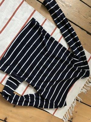 longsleve-Shirt in marineblau-weiß-gestreift