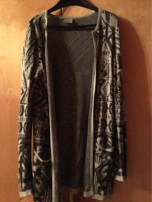 Vero Moda Gilet long tricoté noir-argenté
