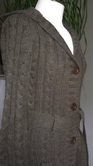 Colours of the World Long Knitted Vest khaki mixture fibre