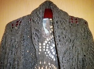 Street One Long Knitted Vest bronze-colored