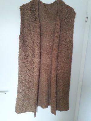 Long Knitted Vest camel