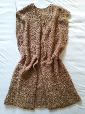 Long Knitted Vest camel