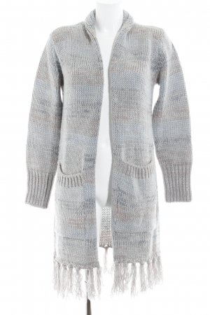 Long Knitted Vest slate-gray casual look