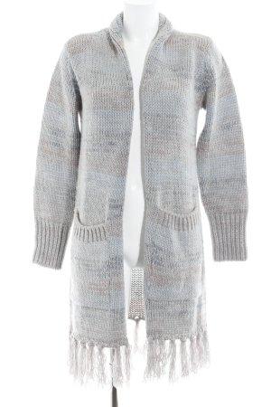Gilet long tricoté gris ardoise style décontracté